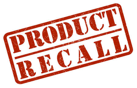 red product recall rubber stamp on white background Illustration