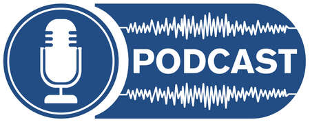 podcast recording symbol with microphone and audio waveform Фото со стока - 120546854
