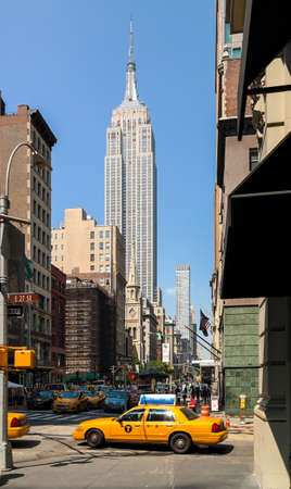 low angle view of skyscrapers in midtown Manhattan Redakční