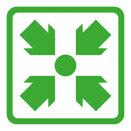 simple flat assembly point or meeting point icon vector illustration Ilustración de vector