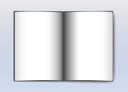 blank white pages open book with shadow vector illustration Vektoros illusztráció