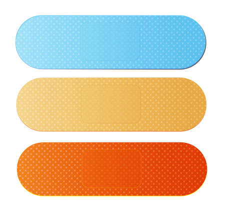 band aids in different colors vector illustration