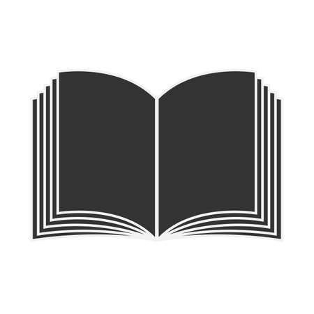 simple black and white book or magazine icon vector illustration