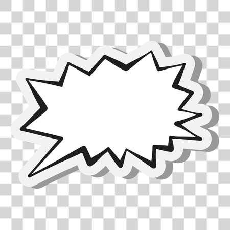 comic speech bubble or speech balloon on transparent background vector illustration 向量圖像