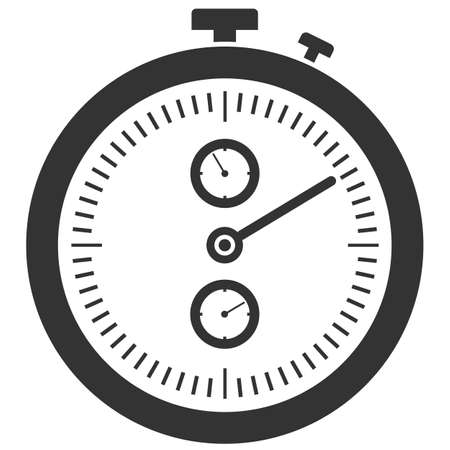 simple flat black and white stopwatch icon vector illustration