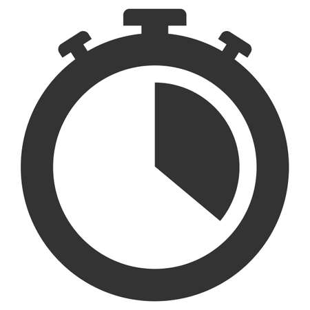 simple flat black and white stop watch icon vector illustration