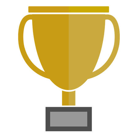 simple flat prize cup or trophy vector illustration