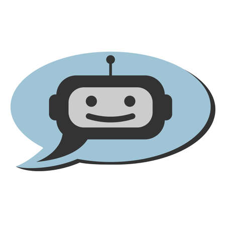 support bot or chat robot icon in speech bubble vector illustration