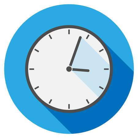 simple flat round clock icon or symbol vector illustration
