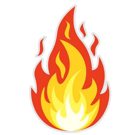 simple orange and red flame icon or symbol vector illustration Ilustrace