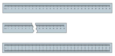 30 cm or 300 mm ruler set vector illustration 写真素材 - 134109174