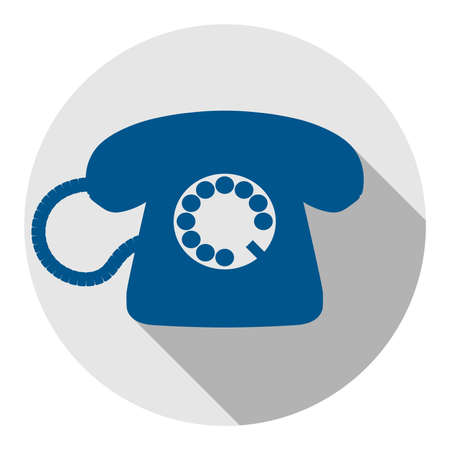 rotary dial operated telephone icon or symbol vector illustration 写真素材 - 134109187