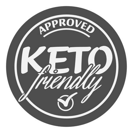 keto friendly sticker or label vector illustration for food suitable for ketogenic diet