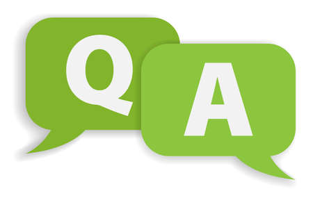 speech bubbles with Q and A isolated on white background vector illustration, frequently asked questions or questions and answers concept  イラスト・ベクター素材