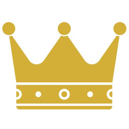 golden crown icon or symbol vector illustration