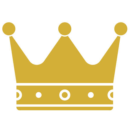 golden crown icon or symbol vector illustration