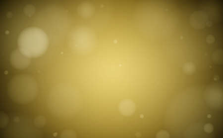 golden dreamy bokeh background with circular flares vector illustration Ilustrace