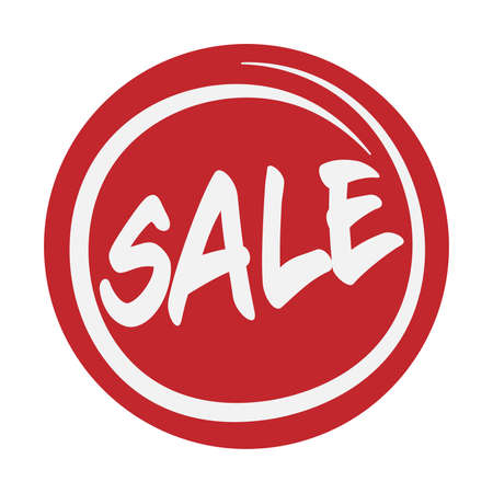 red round SALE badge or sticker vector illustration, marketing concept