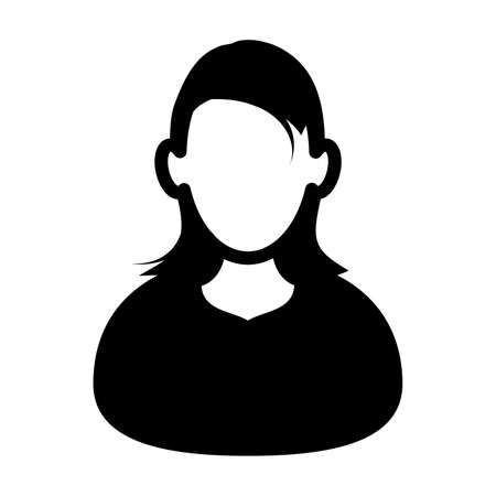 woman silhouette avatar icon or symbol vector illustration