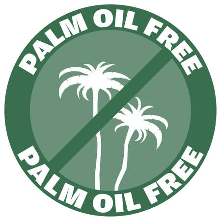 round green palm oil free label or badge vector illustration