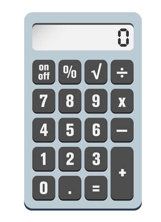 simple pocket calculator vector illustration isolated on white background