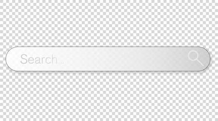 browser search bar with magnifier isolated on transparent background vector illustration