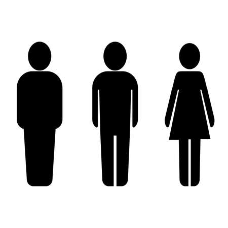 male and female person icons or pictogram set vector illustration