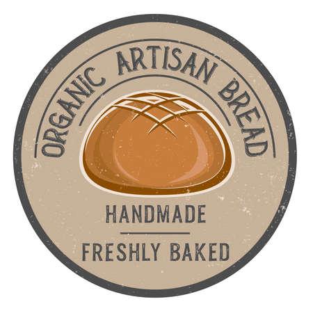organic artisan bread sign or label vector illustration  イラスト・ベクター素材