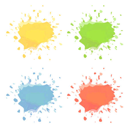paint or ink splashes isolated on white vector illustration  イラスト・ベクター素材