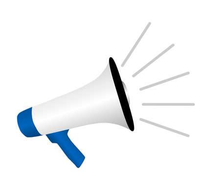 megaphone or bullhorn loudspeaker isolated on white vector illustration