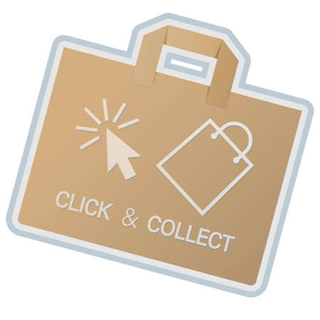 click and collect concept vector illustration, buy online and collect in local store