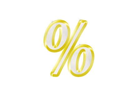 per cent: Per Cent Emblem Stock Photo