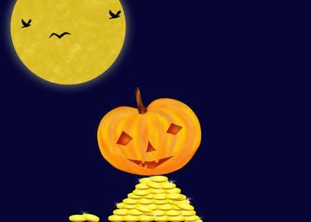 mistic: Mistic Halloween Night Stock Photo