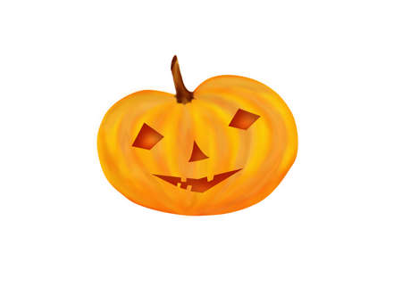mistic: Halloween Pumpkin Stock Photo