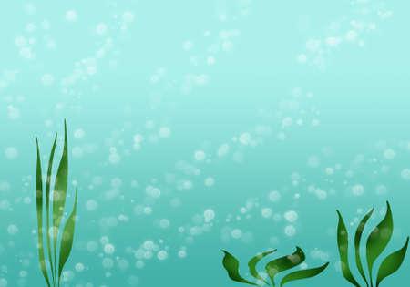 alga: Sea background Stock Photo
