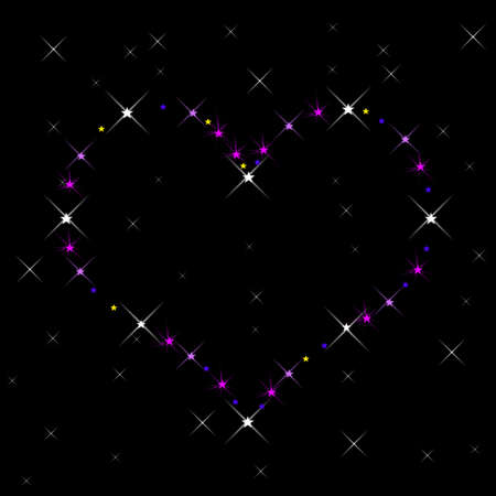 Constellation of Love Stock Photo - 17029417
