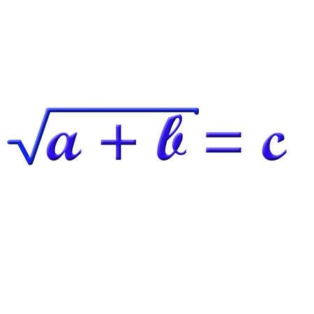matemáticas: Fórmula matemática Foto de archivo