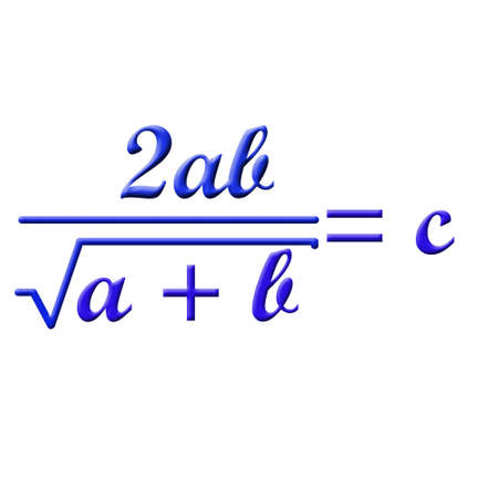 square root: Math formula Stock Photo