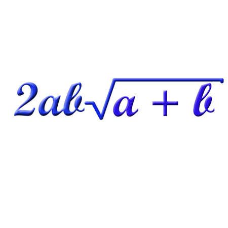 square root: Math formula Stock Photo