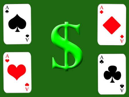 gamblers: casino background Stock Photo
