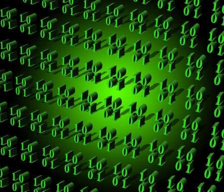 codigo binario: c�digo binario Foto de archivo