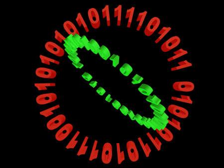 codigo binario: binary code Foto de archivo