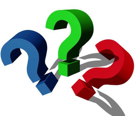 signo de interrogación: 3D de signo de interrogaci?n Foto de archivo