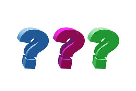 3d: 3d question mark