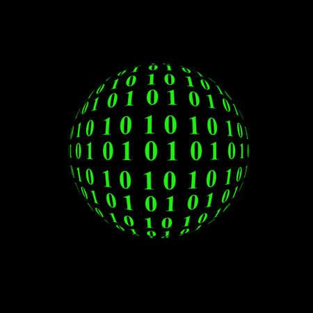 sphere: Binary sphere Stock Photo