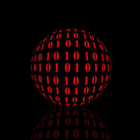 sphere: Computer sphere Stock Photo
