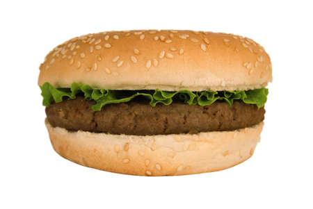 Quarterpounder burger with lettuce Stock Photo