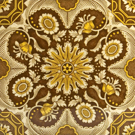 influenced: An Aesthetic period original tile dating around 1875 with Islamic Persian design