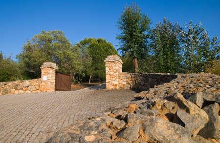 Sweeping stone built entrance to a Mediterranean holiday villa Stock Photo - 3017859