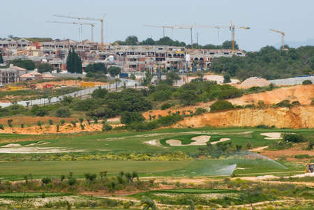 vilamoura: Large  complex under construction in the Algarve, Portugal Stock Photo